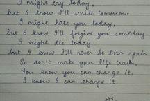 my writting