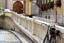 bicycles and cars / by luxury and opulence