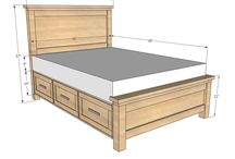 Bed with storage plans