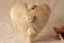 Vintage Style Hearts and Shabby Chic Inspired Flowers / Hearts and flowers created from all sorts of different materials and substances although textile art and fibre craft are heavy influencer's here. Sometimes made by nature, other times by designers, makers and artists these hearts and flowers have a beautiful form. For an exclusive range of fabric hanging heart decorations, please visit https://www.sarathursfieldtextiles.com/ourshop/cat_1223478-Fabric-Hanging-Hearts.html