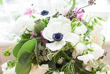 Anemone, Green and Pops of Pink