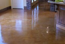 stained floors