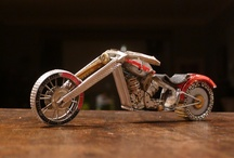 motorcycles out of watchparts / motorcycles made out of vintage watch parts