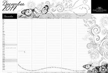 FAMILY CALENDARS!!  (Printables) / A Downloaded and Printable Family Calendar for each month of the year. A Column for each of your family members and row for each day of the month in order to keep your family and life organised and on track throughout the year! / by The Pam Golding Property Group