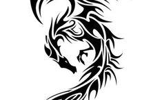 tribal dragon tatoos