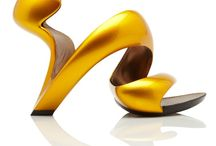 Unusual Shoes / Various & unusual heels, flats, platforms and shoes - paying close attention to their shapes & forms.