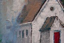 Barn and Church Paintings