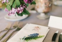 Table decor / Table decor with fresh flowers.