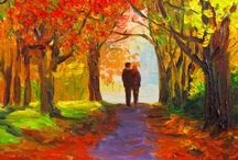 Autumn Paintings + Inspiration / Our favorite autumn paintings and inspiration to get you ready for the fall season.