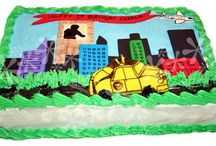 City and Car Cakes