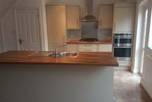 Howdens Painted Kitchen with Solid Iroko Worktops