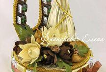 Букеты из конфет / Композиции конфетные, букет конфетный