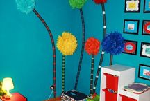 Dr Seuss Bedroom / Ive had a Dr Seuss theme in my head for a while. I may end up turning the kids room into something neW  / by Mindy Stroud