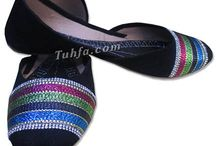 Women Khussa Shoes / Women's khussa shoes are available in various colors and designs. We have women's slippers and regular khussa shoes. These Pakistani Indian khussa are made with soft leather that is quite comfortable.