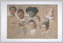 Wateau / Dibujos de Jean Antoine Watteau