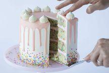 Layer drip cakes
