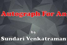 AN AUTOGRAPH FOR ANJALI / My new novel; a romantic suspense
