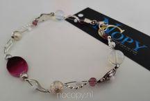 Handmade jewelry, handgemaakte sieraden