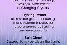 magical properties of rain water