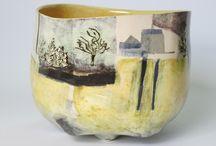 New Work / New hand built earthenware ceramics by Anna Lambert