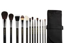 Maestro / The Maestro series is #professional grade quality makeup brushes. It boasts of a nickel plated brass ferrule which is more shiny, durable & stronger than the anodized aluminum  and also has a black lacquered birch wooden handle / by Bdellium Tools