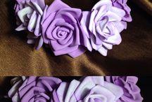 Цветы из фоамиран. Розы. Ободки.