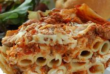 Pasta Recipes / Find recipes for all your favorite pasta dishes including lasagna, baked ziti, pasta salad, macaroni and cheese, and pesto. / by Allrecipes