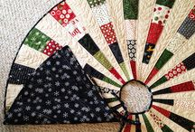 QUILTING:  Christmas Tree Skirts