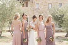 Bridesmaid hair & dresses