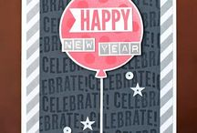 New Years / Make a hand stamped New Years  card or gift using Stampin' Up! products. Card making, 3D gifts & inspiration posted at http://StampingMom.com