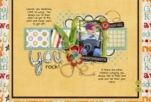 Digital Scrapbook / Páginas, kit e freebies para digital scrapbook. Belezinha direto no computador