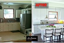 Before and After...Kitchen Renovations / The La Cuisine touch can transform your house into a home... a place that jives to your groove. Your Style, Our Craftsmanship, Shared Pride! Kitchen renovation fun!!