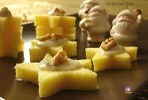Stelle di polenta e funghi o con mousse i con formaggio e noci ..