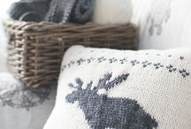 Knitted christmas pillow pattern