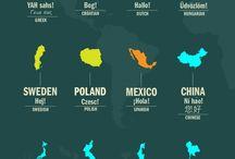 På många olika språk
