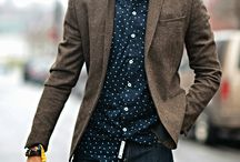 Casual style / No tie, no now tire. Inspiration for casual wear