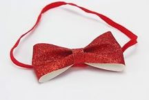 Glitter Christmas Bows Crowns  Headbands
