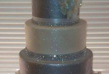 silver glitter wedding