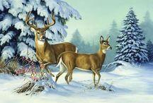 animaux  vintage  hiver
