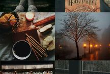 Winter at Hogwarts moodboard