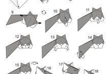 Serviet og papir fold