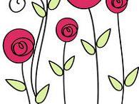 dibujos de flores y bordes