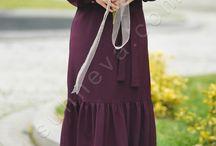 Eteği Fırfırlı Tesettür Elbise / tesettür giyim, fırfırlı elbise, tesettür elbise