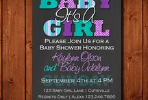 baby shower GIRL purple