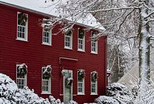 Snowy Cottages / Old world houses and Interiors
