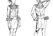 Romina Karamanea A/W'10 Sketches / Romina's Sketches for A/W'10