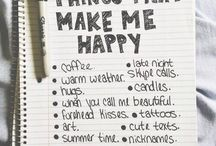 Things that make you happy-inspiration