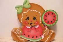 Pittura country gingerbread