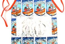 Juice pouch crafts / Crafts for juice pouches like Capri sun
