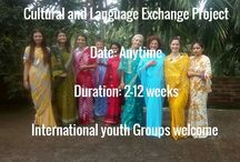 Cultural and language exchange camp